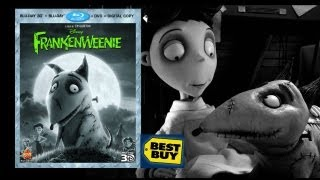 Frankenweenie 3D Best Buy Exclusive Blu-ray Unboxing - (2012)