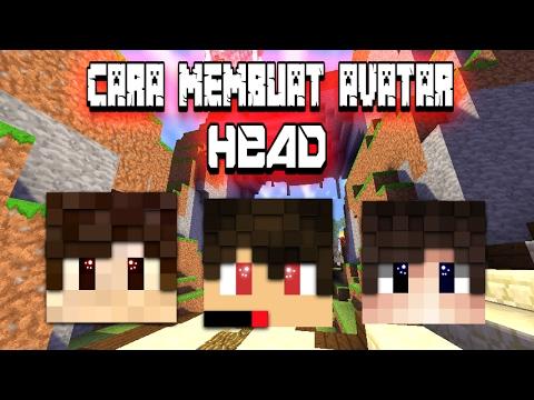 Cara membuat avatar head minecraft extrude