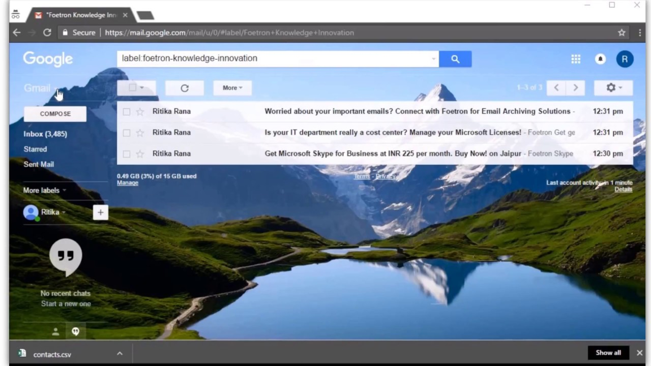 How to Import contacts from your Google Account to Microsoft Outlook 2016?
