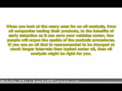Oil Analysis  What Is An Oil Analysis  Youtube