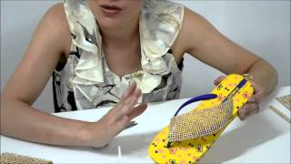 Repeat youtube video programa 2 - Chinelo com Manta de Strass