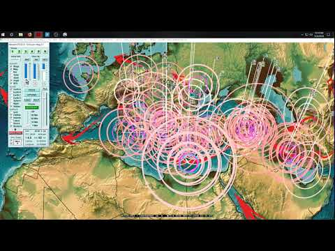 5/24/2018 -- West Coast USA struck by M4.6 Earthquake -- New deep earthquakes in W. Pacific - 동영상