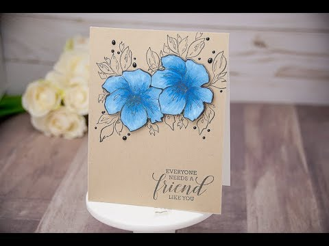 Unity Quick Tip: Kraft Color Combos {Copic Coloring + Floral Stamping}