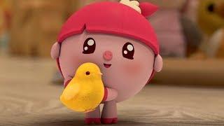 Малышарики - Мама для цыплёнка - серия 95 - обучающие мультфильмы для малышей 0-4 - про животных
