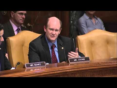 Senator Coons testifies at Transportation Appropriations Committee Hearing