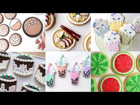CUTE COOKIE FOOD! My Favorite Cookie Decorating Videos - Compilation by SweetAmbs