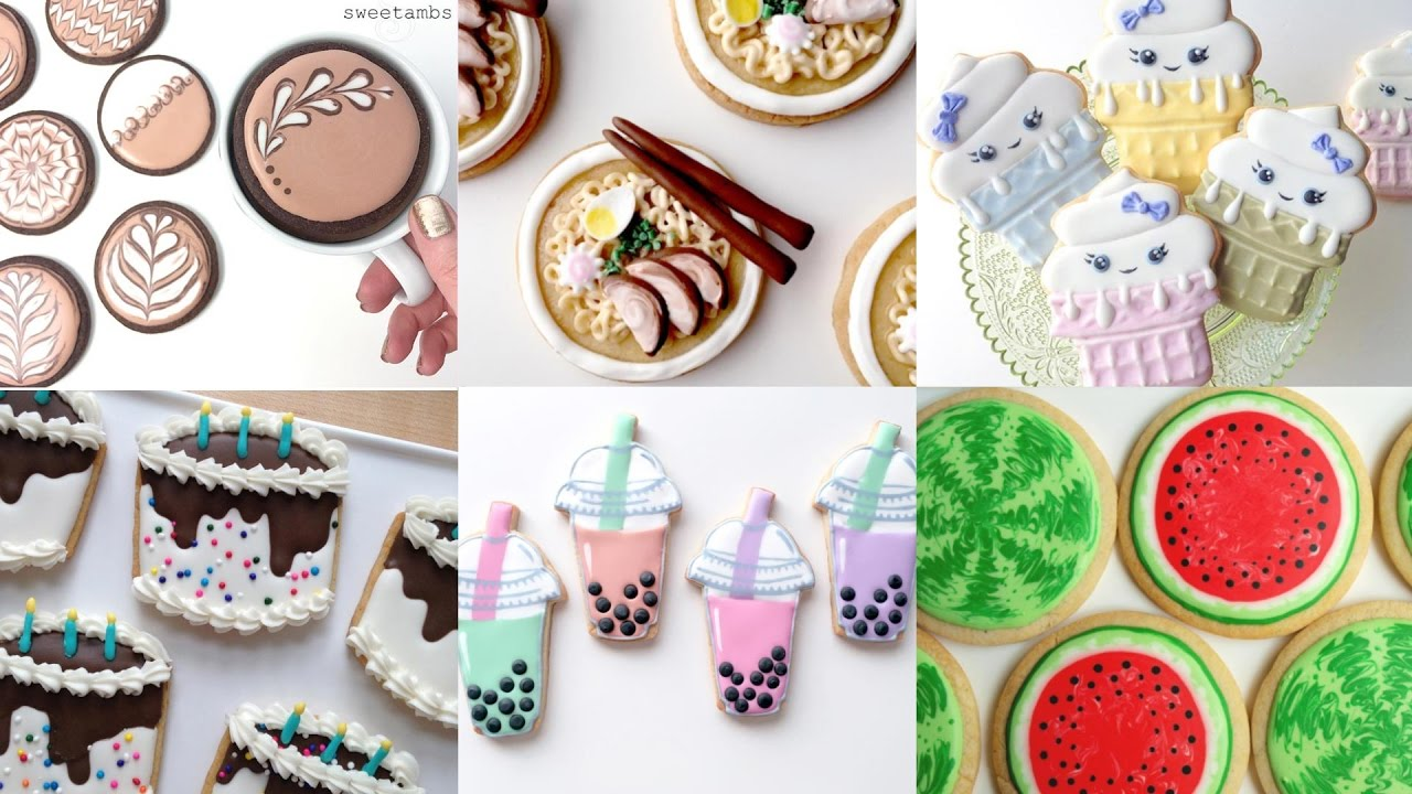 cute cookie food my favorite cookie decorating videos compilation