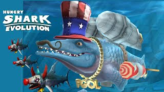 Hungry Shark Evolution: StarWar  | Clownbaby Sky War And FireWork