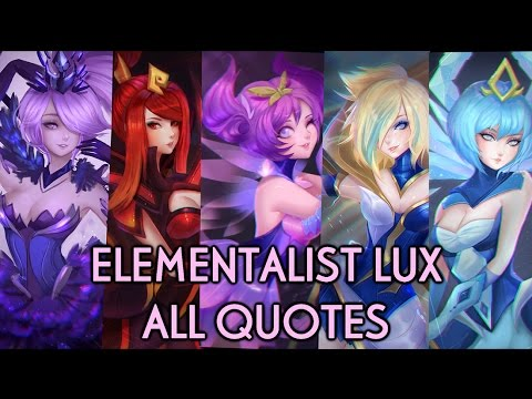 ELEMENTALIST LUX - ALL QUOTES (ENGLISH) (ON SCREEN) - YouTube