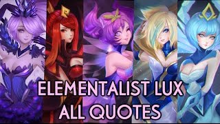 ELEMENTALIST LUX - ALL QUOTES (ENGLISH) (ON SCREEN)