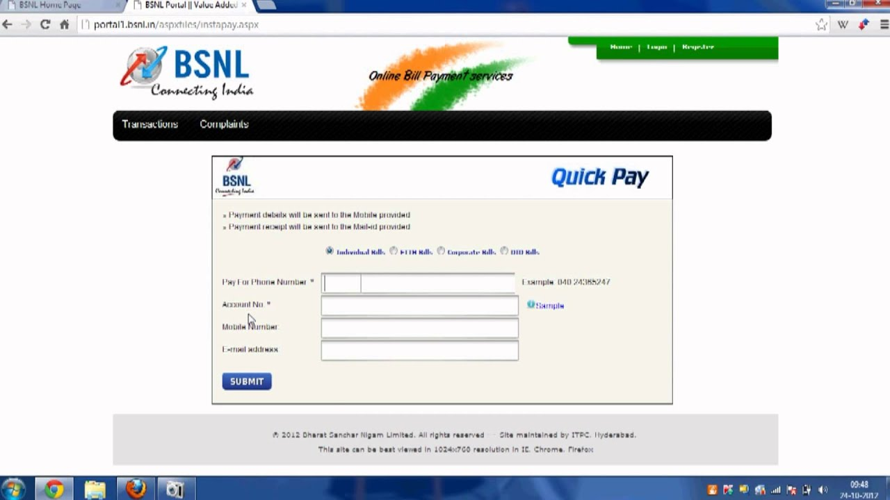 BSNL Online Payment – How to Pay BSNL Bill on BSNL Portal