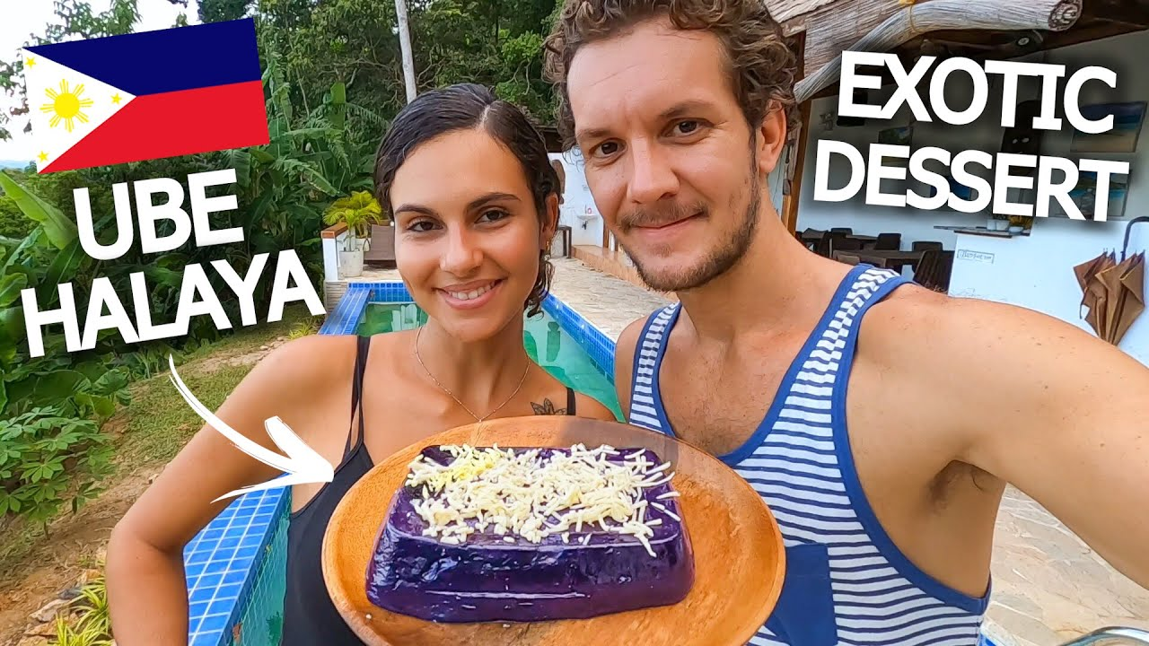 FOREIGNERS COOK DELICIOUS FILIPINO DESSERT! UBE HALAYA WITH CHEESE