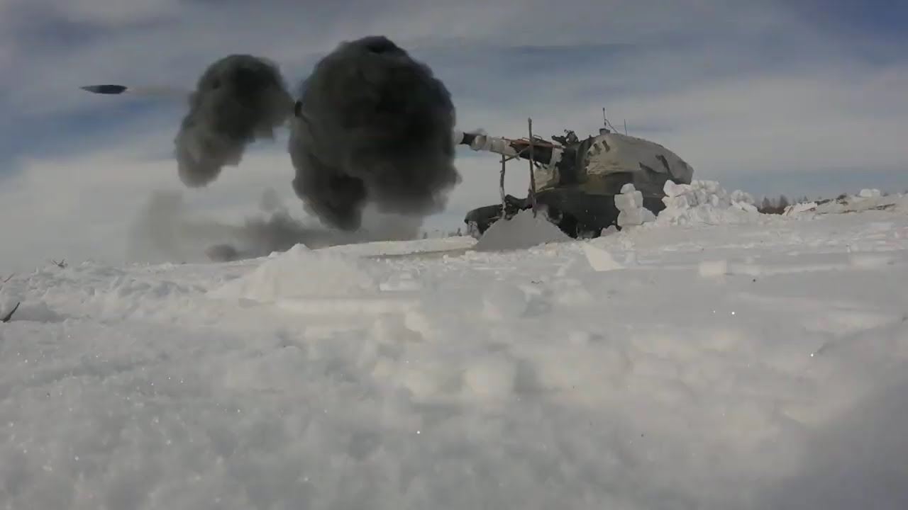 Russian Military Prepares To Take Over Hoth - Russian Artillery & Infantry Winter Live Fire