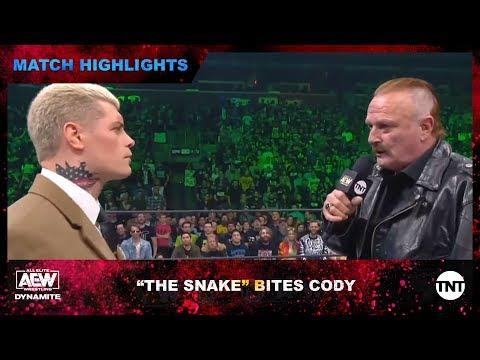 """Jake """"The Snake"""" Roberts Makes His AEW Debut And Has Harsh Words For Cody"""