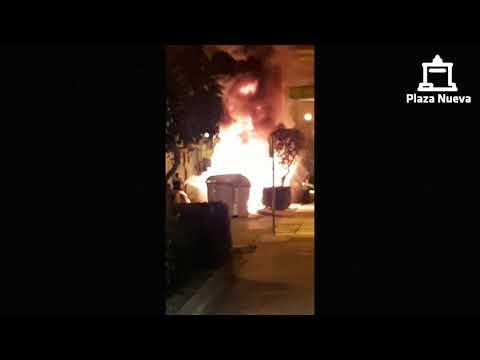 Incendio en la Avenida del Barrio en Tudela