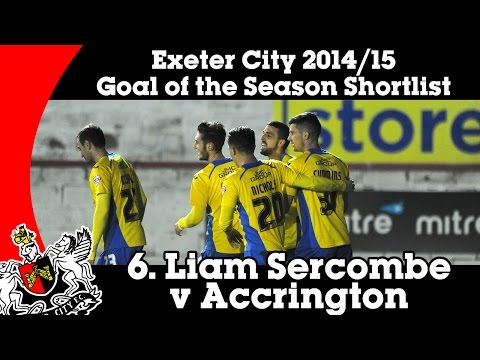Goal of the Season Shortlist: 6 – Liam Sercombe v Accrington Stanley | Exeter City Football Club