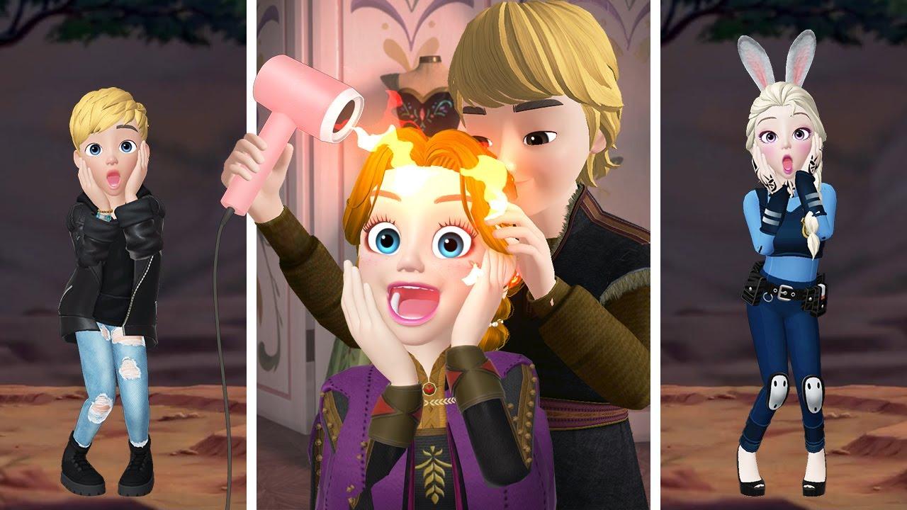 Frozen Zepeto BEST MOMENT / TikTok  Zepeto De Frozen Elsa y Ana / MillyVanilly