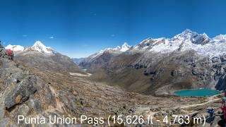 Santa Cruz Trek From Above 4k, Cordillera Blanca, Huaraz , Peru - Drone video DJI Phantom