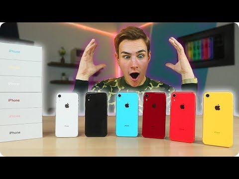 Unboxing Every IPhone XR With ASMR (Rainbow Colors)