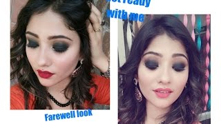 get ready with me || farewell look || classic black smokey eyes || shy styles