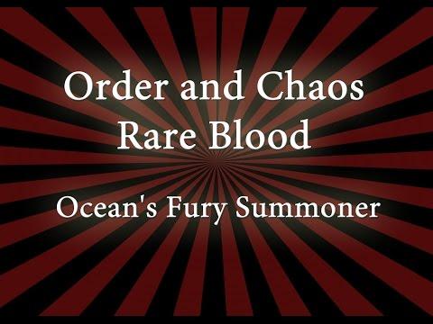 Ocean's Fury Summoner - Order & Chaos Rare Blood