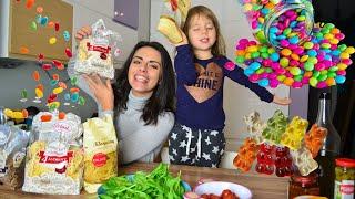 Makaron Polmak z cukierkami! Challenge z Lili