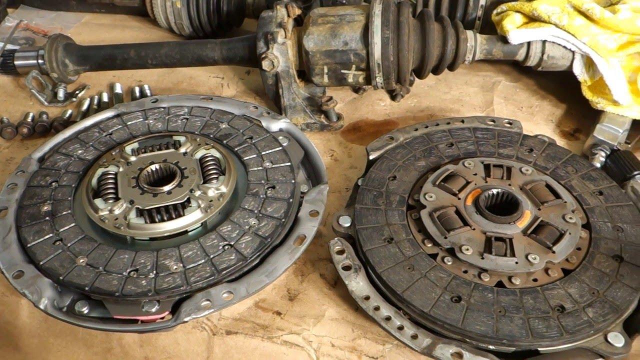 Toyota RAV4 2 4 Clutch parts old vs new