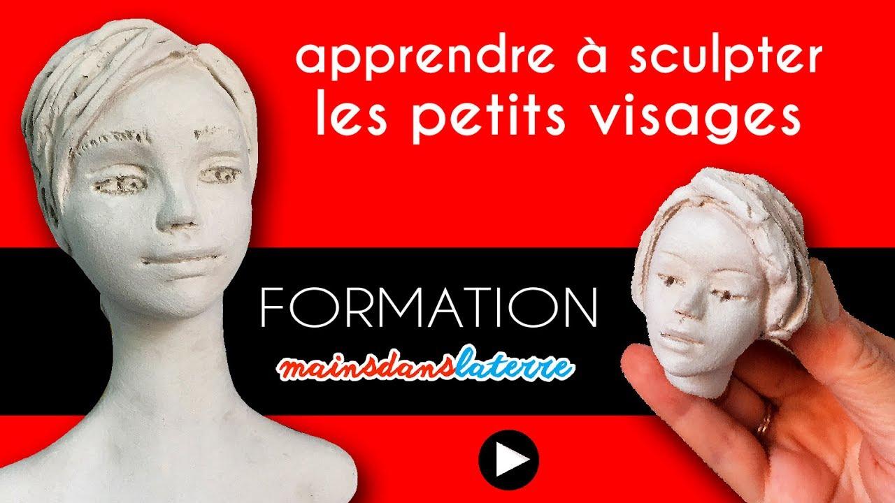 formation apprendre sculpter les petits visages en argile pottery ceramic clay youtube. Black Bedroom Furniture Sets. Home Design Ideas
