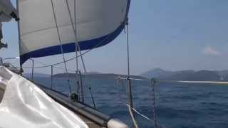 7 days in Greece - Sunday morning  - sailing to Meganisi