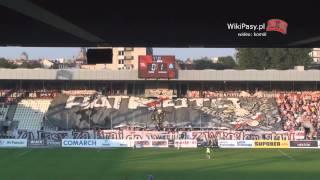 02.08.2013 Cracovia - Ruch Chorzów 2:1 OPRAWA (WikiPasy.pl)
