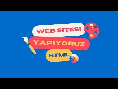 HTML-CSS Web Sitesi Yapımı