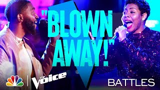 "Durell Anthony vs. Zania Alaké - Bee Gees' ""Emotion"" - The Voice Battles 2021"