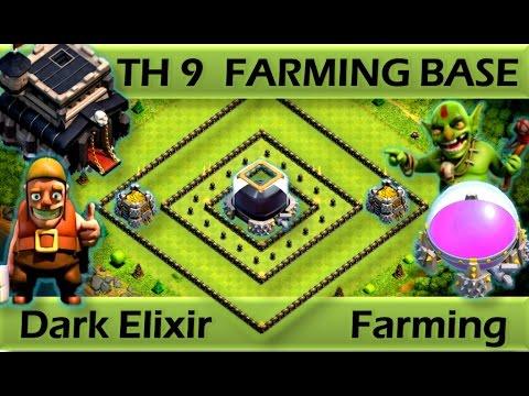 TH 9 (TOWN HALL 9) FARMING BASE || DARK ELIXIR FARMING || REPLAY PROOF || CLASH OF CLANS