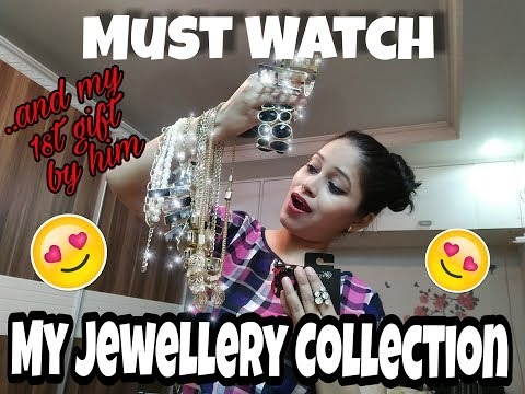 My Jewellery Collection| my 1st gift by him|junk jewellery look book everything under Rs2000