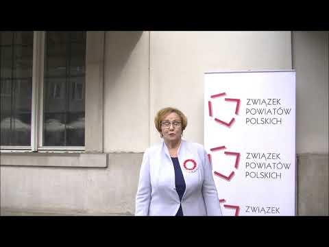 Janina Kwiecień, Wiceprezes Zarządu ZPP, Starosta Kartuski podczas Zgromadzenia Jubileuszowego ZPP