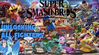 Smash Ultimate - Unlocking All Fighters!