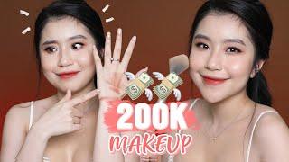 MAKEUP CĂNG BÓNG VỚI CÁC SẢN PHẨM DƯỚI 200K ?  | Quỳnh Thi