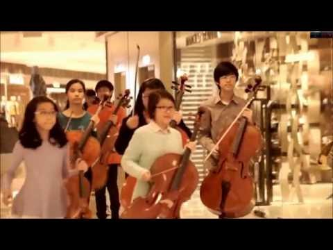 chinese flash mob star wars theme classic musique  awesome 2016