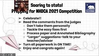 NHDCA 2021: Going to state tips and tricks