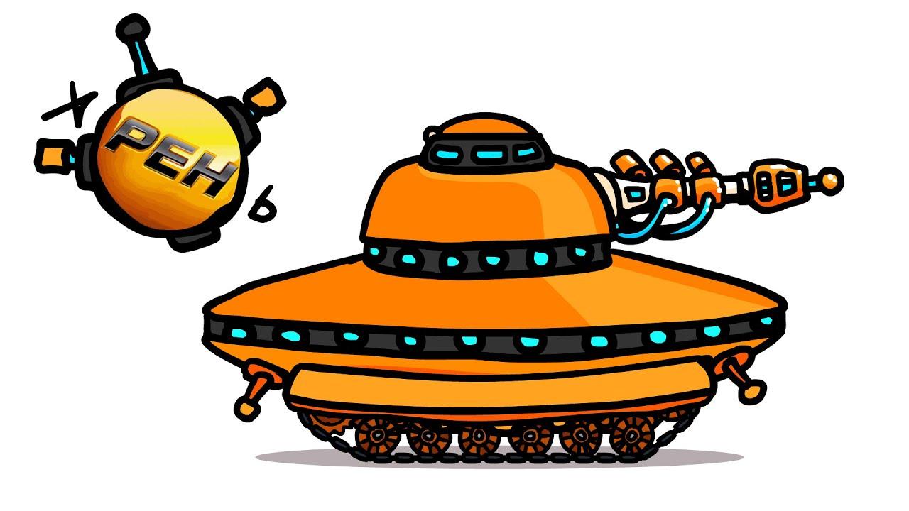 Если бы РЕН ТВ сделали танк? - Танковая Дичь (анимация)