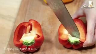 Запечённые перцы с творогом и фетой