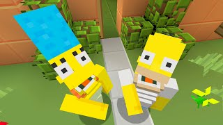 Minecraft Xbox - THE SIMPSONS SKIN PACK - SHOWCASE TRAILER!