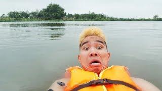 PHD   Thử Thách Nguy Hiểm Bơi Qua Sông Lớn Một Mình   Swim Across The River