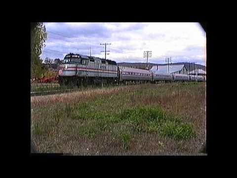 Amtrak extra at St. Albans,VT on 10/07/1989