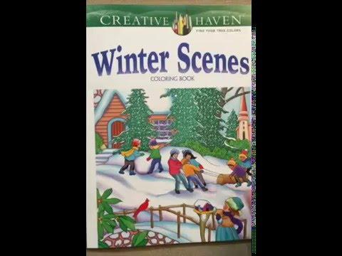 Creative Haven Winter Scenes Coloring Book Adult Flip Through