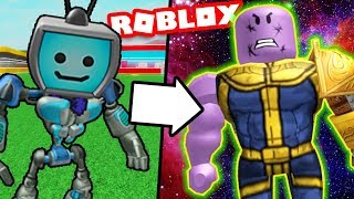 Avengers INFINITY WAR (Becoming THANOS in Roblox Superhero Tycoon!) Movie Games