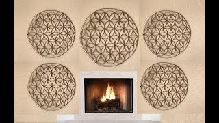 Flower of Life out of Paper Towel Tubes - DIY Wall Art Decor
