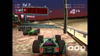 Rollcage Stage II - Gameplay PSX (PS One) HD 720P (Playstation classics)