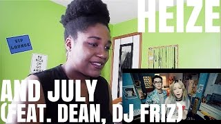 Heize(헤이즈) - And July (Feat. DEAN, DJ Friz) | MV REACTION Resimi