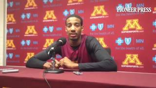 Senior Austin Hollins on the importance of his team playing well defensively. #Gophers